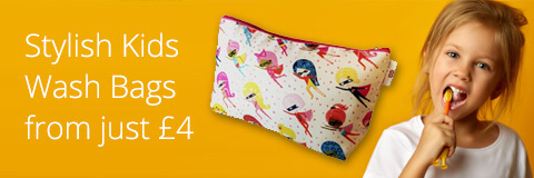 Stylish Kids Wash Bags from just ?4