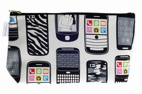Kids Cotton Wash Bag - Mobile Phones