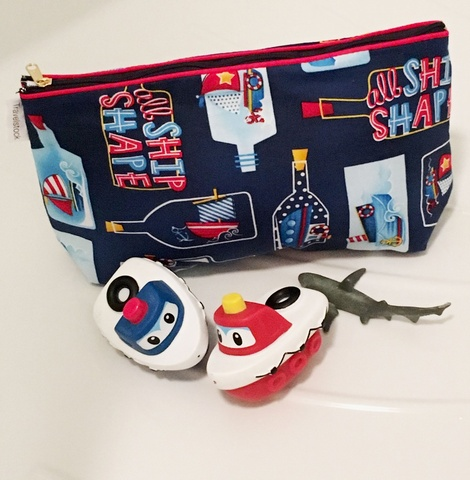 Kids Cotton Wash Bag - Ships at Sea