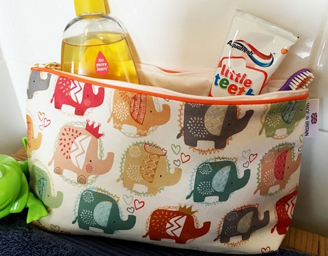 Kids Cotton Wash Bag - Ellie the Elephant